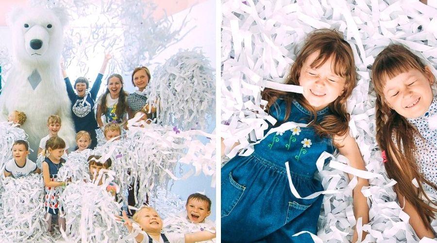 Бумажное шоу на день рождения ребенка или детский праздник в Екатеринбурге