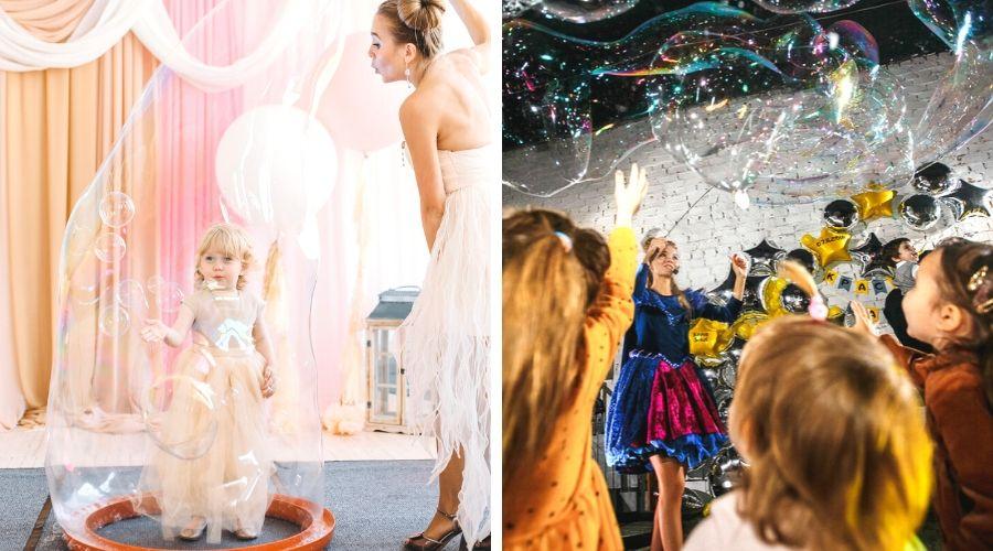 Шоу мыльных пузырей на день рождения ребенка в Екатеринбурге
