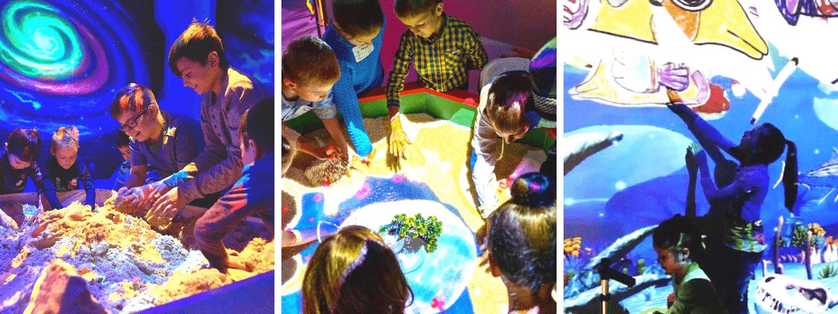 Детский парк развлечений с уникальными видеостеной и интерактивными играми