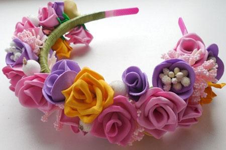 Мастер-класс Цветы из фоамирана