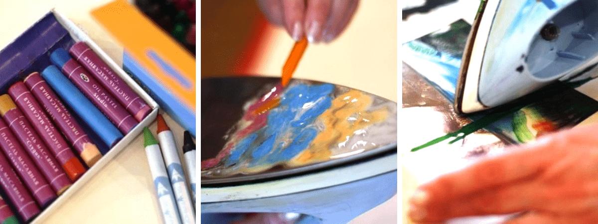 Мастер-класс энкаустика для детей в творческой студии