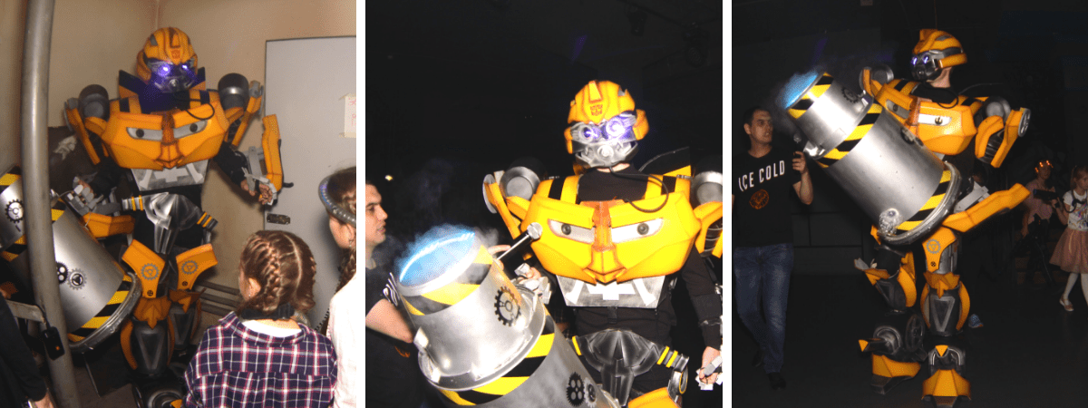 Выездной праздник с лазертагом и роботом Бамблби